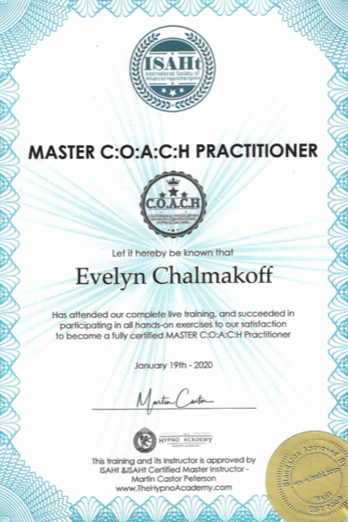 Master C:O:A:C:H Practitioner,