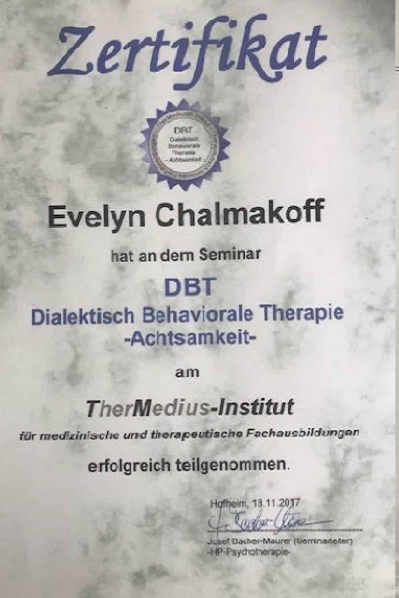 Fachfortbildung Achtsamkeit/DBT