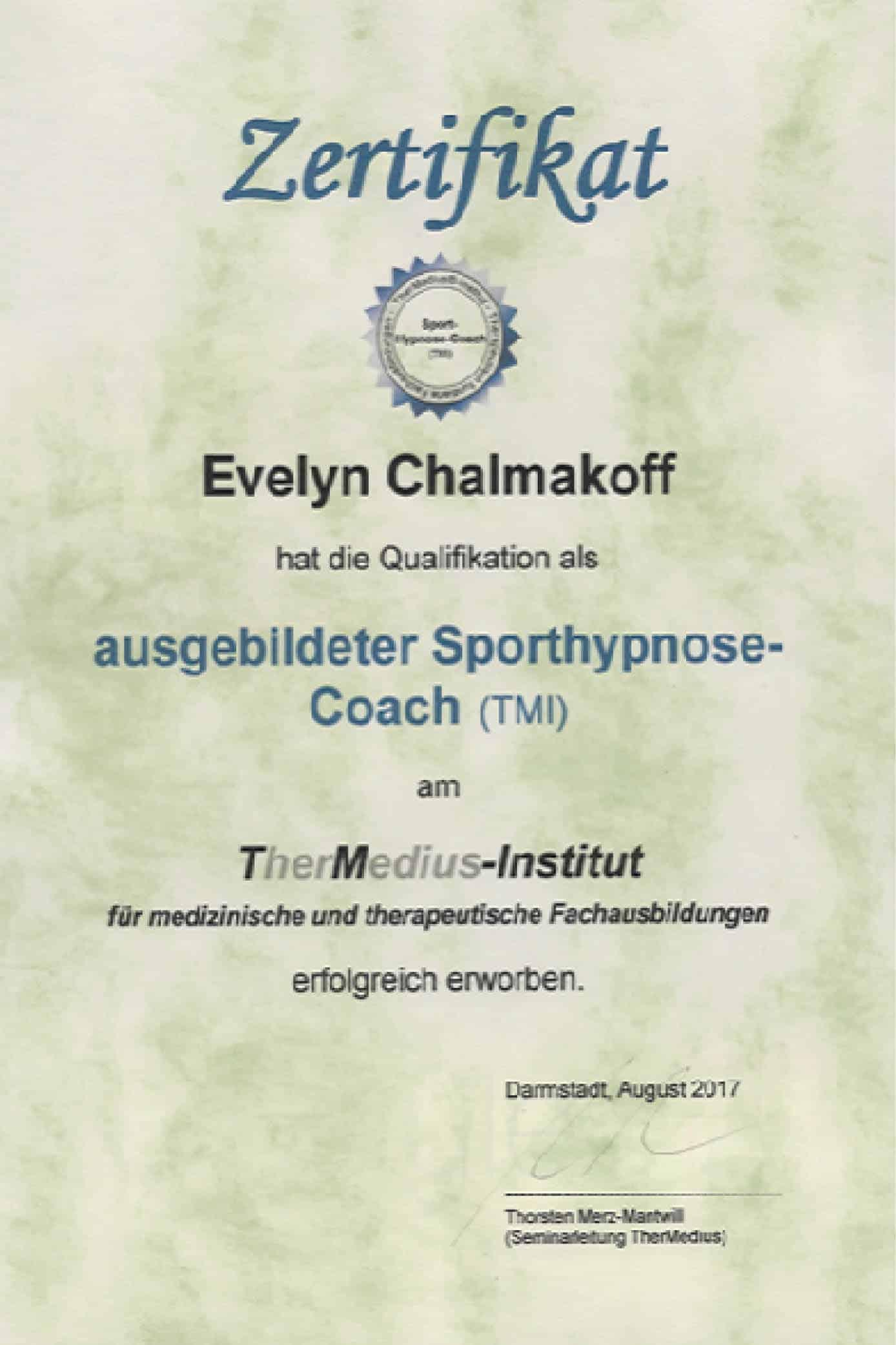 Hypnose-Coach & Sporthypnose-Coach
