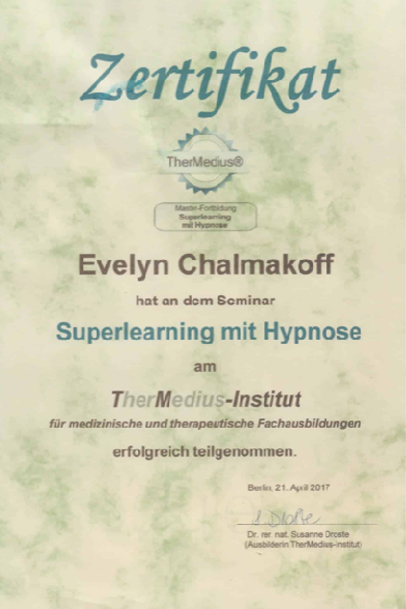 Superlearning mit Hypnose